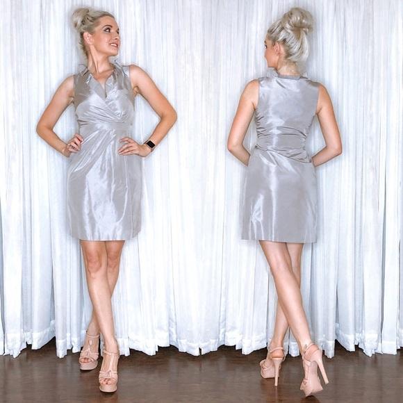 J. Crew Dresses & Skirts - J Crew Silver Grey Bridesmaid Party Cocktail Dress